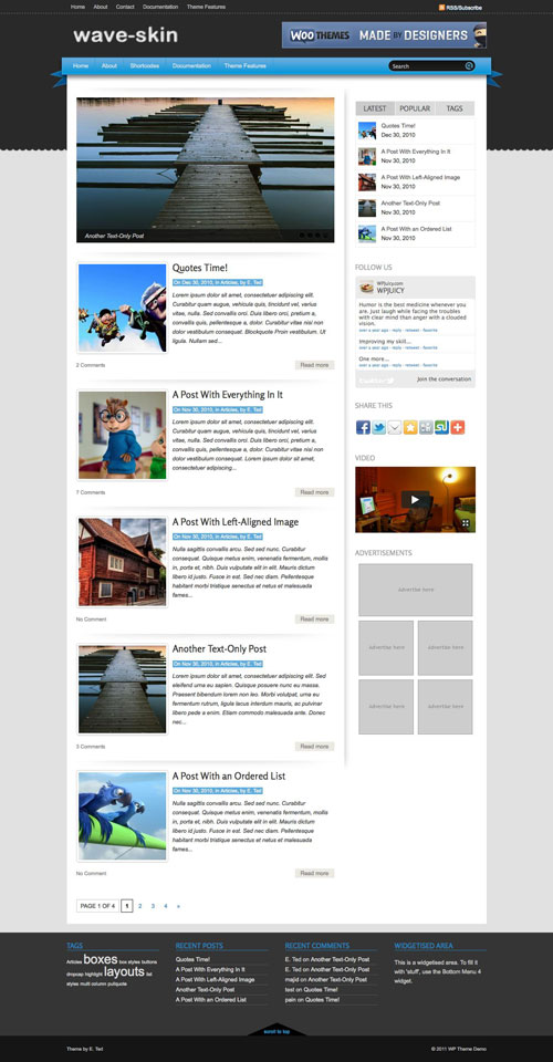 Wave-Skin WordPress Theme