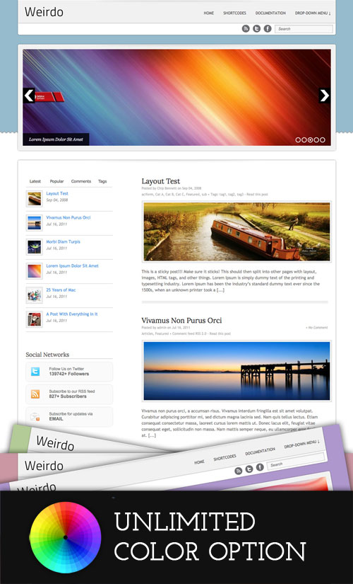 Weirdo WordPress Theme