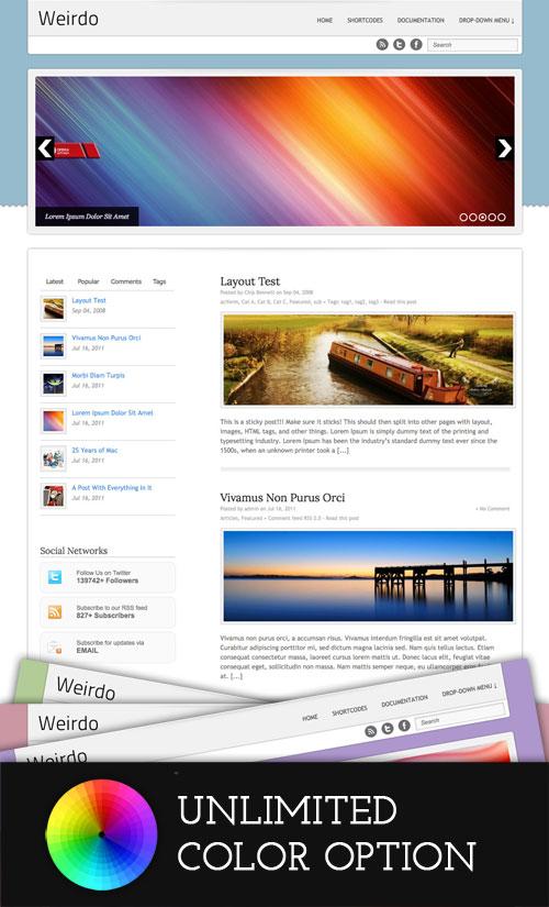 Weirdo WordPress Theme