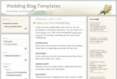 Wedding Blog Templates