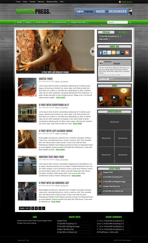 Wooden-Press WordPress Theme