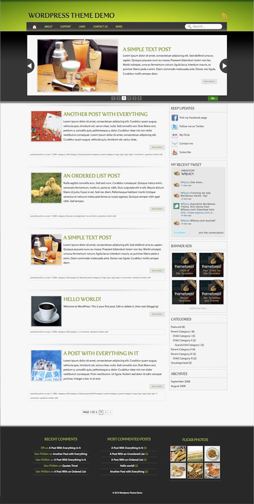 Attracted WordPress Theme